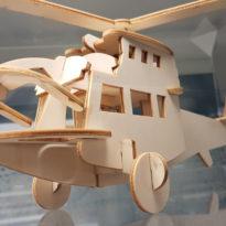 Vanerista laserleikattu 3D palapeli