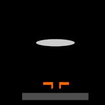 Laserleikkauspään poikkileikkaus